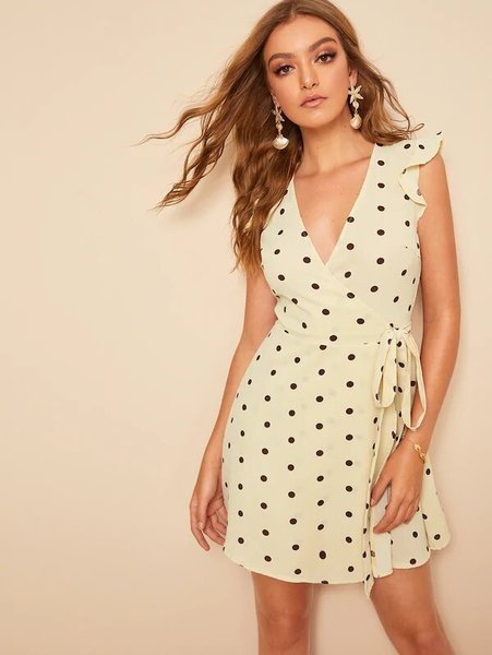 Ruffle Polka Dot Dress