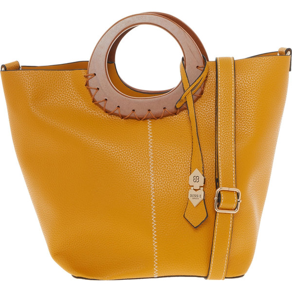Yellow Wooden Handle Grab Bag