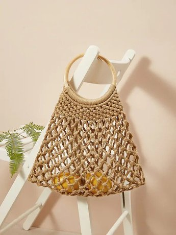Tote Bag With Ring Handle