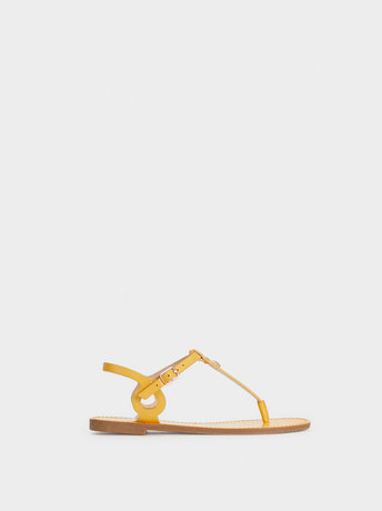 Pineapple-Detail Sandals