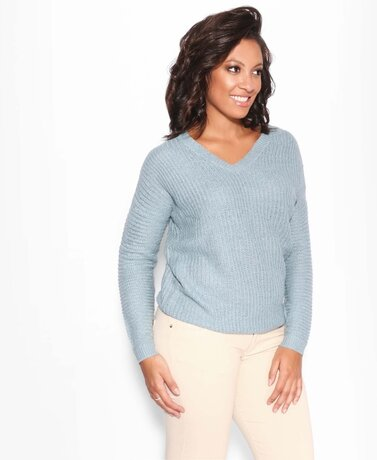 Open Back V-Neck Jumper
