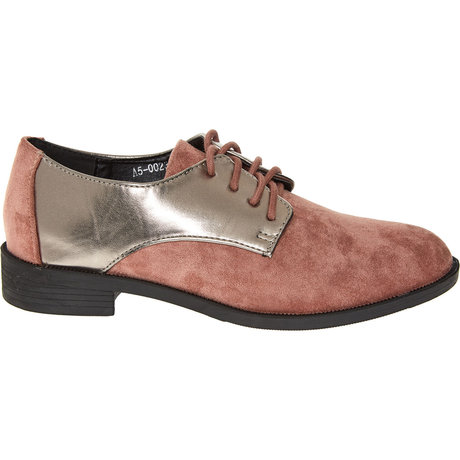 Silver & Pink Brogues